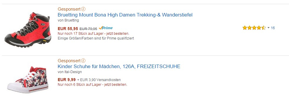 amazon gesponserte ads