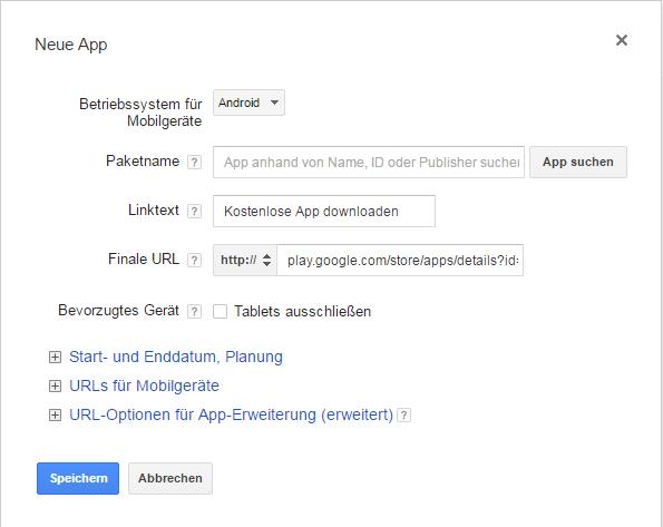 App Erstellung