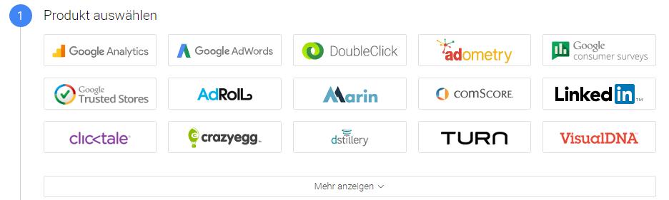 produkt auswählen