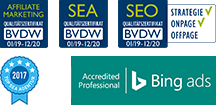 BVDW SEO, SEA & Affiliate Zertifikat 2019/2020 und Bing ads